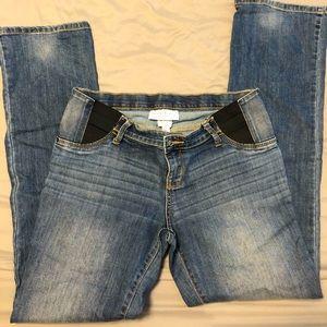 Isabel Maternity Boot Cut Jeans Elastic Waist